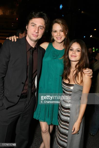 "Zach Braff, Jacinda Barrett and Rachel Bilson during Los Angeles Premiere of DreamWorks ""The Last Kiss"" at Director's Guild of America in Los..."