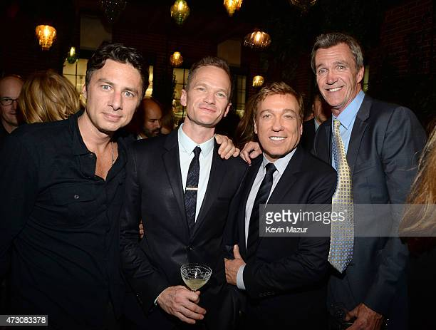 Zach Braff Neil Patrick Harris and Kevin Huvane attend 2015 CAA Upfronts Celebration Party on May 11 2015 in New York City