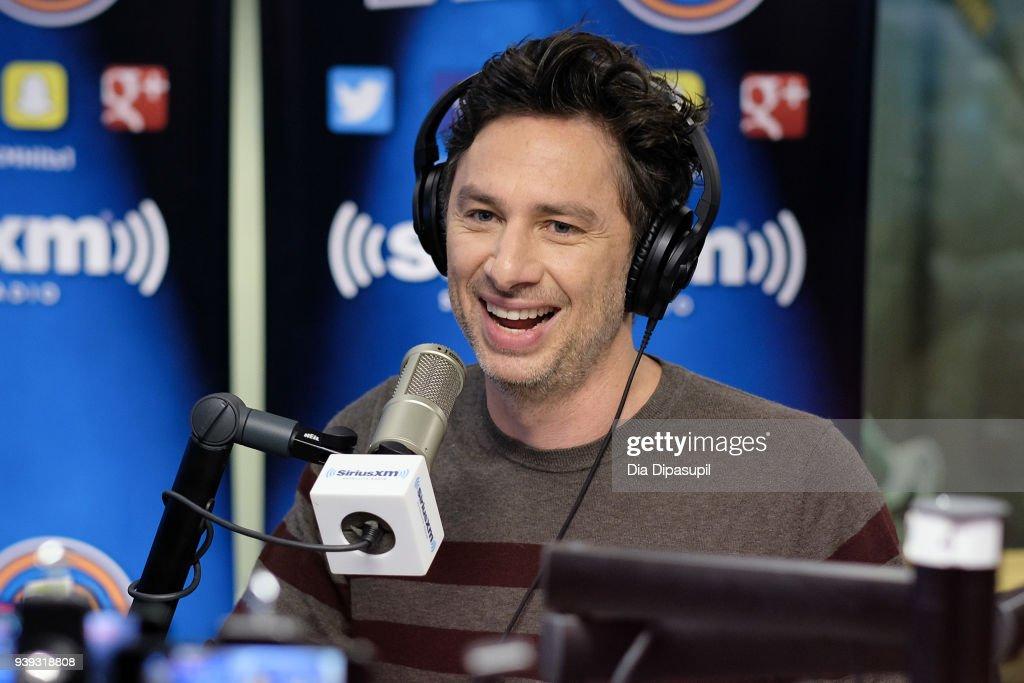 Zach Braff visits SiriusXM Studios on March 28, 2018 in New York City.