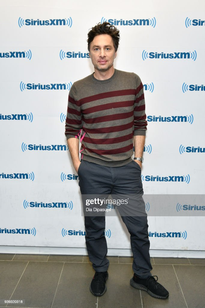 Zach Braff visits SiriusXM Studios on March 28, 2018 in New York City.