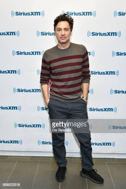 Zach Braff visits SiriusXM Studios on March 28 2018 in New York City