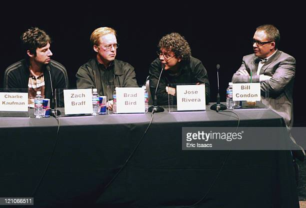 Zach Braff writer of Garden State Brad Bird writer of The Incredibles Jose Rivera writer of The Motorcycle Diaries and Bill Condon writer of Kinsey