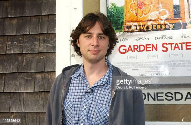 "Zach Braff, writer/director during Nantucket Film Festival 9 - ""Garden State"" Premiere at Dreamland Theater in Nantucket, Massachusetts, United..."