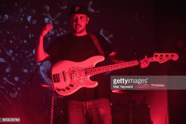 Zach Carothers of Portugal The Man performs on stage at Paramount Theatre on July 20 2017 in Seattle Washington