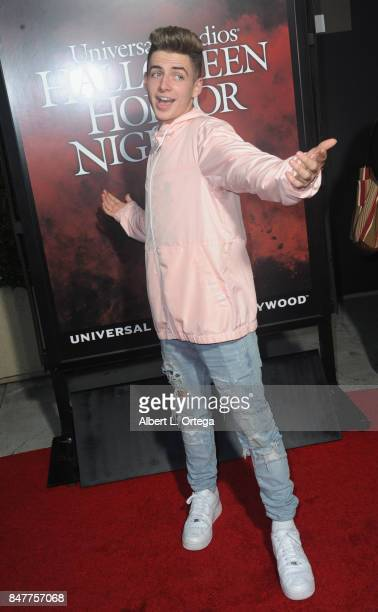 Zach Clayton arrives for the Universal Studios Halloween Horror Nights Opening Night held at Universal Studios Hollywood on September 15 2017 in...