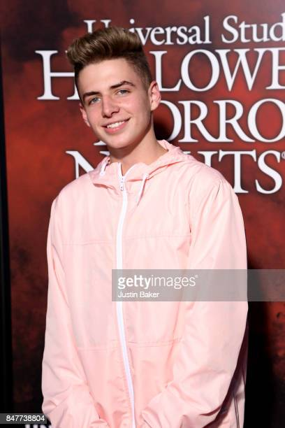 Zach Clayton attends the Universal Studios Halloween Horror Nights Opening Night at Universal Studios Hollywood on September 15 2017 in Universal...