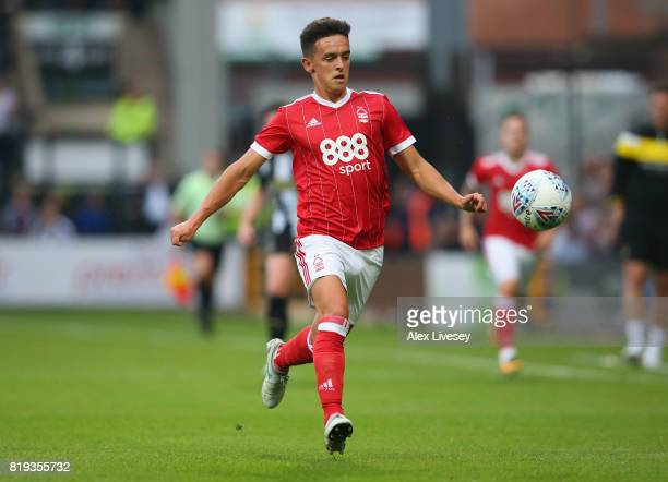 Zach Clough of Nottingham Forest in action during a preseason friendly match between Notts County and Nottingham Forest at Meadow Lane on July 19...