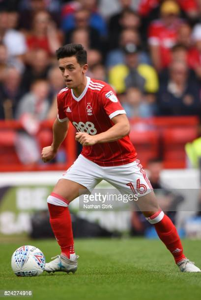 Zach Clough of Nottingham Forest in action during the pre season friendly match between Nottingham Forest and Burnley at the City Ground on July 29...