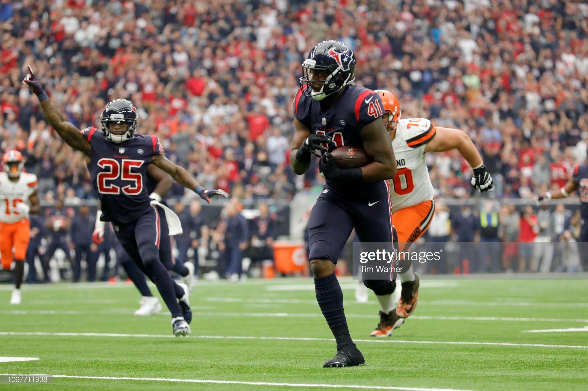 Cleveland Browns v Houston Texans : News Photo