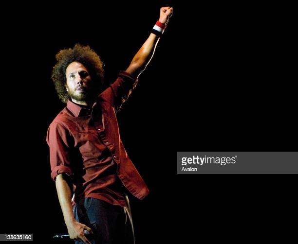 Zach De La Rocha of Rage Against The Machine performing live at Leeds Festival on 23rd August 2008