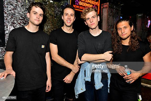 Zach Dyke, Ryan Winnen, Chase Lawrence and Joe Memmel of COIN pose for picture during An Intimate Night Out at Revolution Live on July 9, 2015 in...