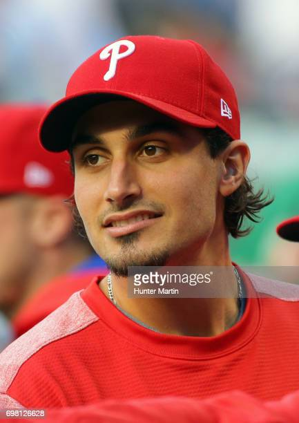 Zach Eflin of the Philadelphia Phillies during a game against the Cincinnati Reds at Citizens Bank Park on May 26 2017 in Philadelphia Pennsylvania...