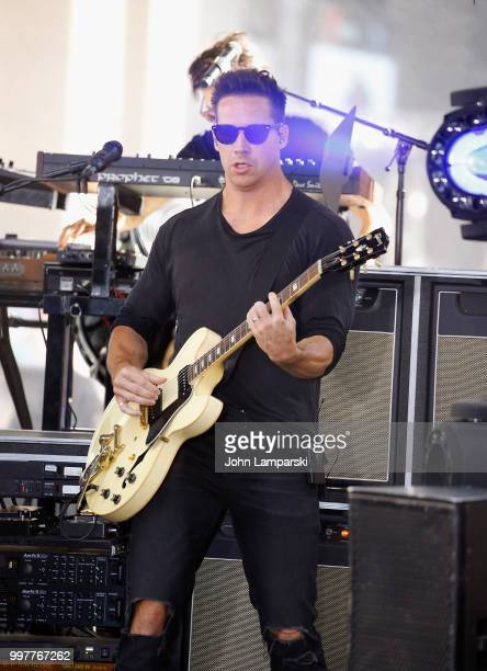 Zach Filkins of One Republic performs on NBC's 'Today' at Rockefeller Plaza on July 13 2018 in New York City