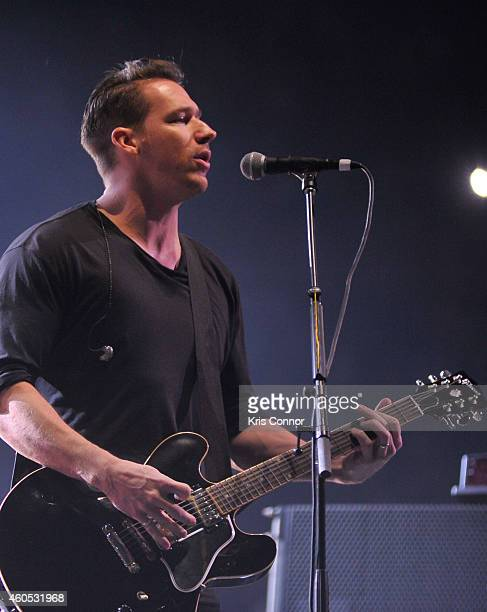 Zach Filkins of OneRepublic performs during the Hot 995's Jingle Ball on December 15 2014 in Washington DC