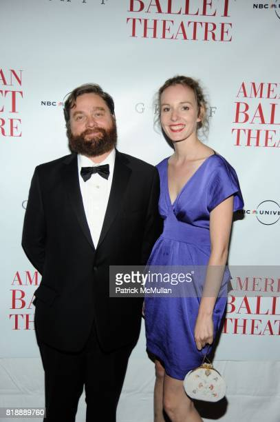 Zach Galifianakis And Quinn Lundberg Attend American Ballet Theatre Celebrates The Opening Of Their 70th Anniversary