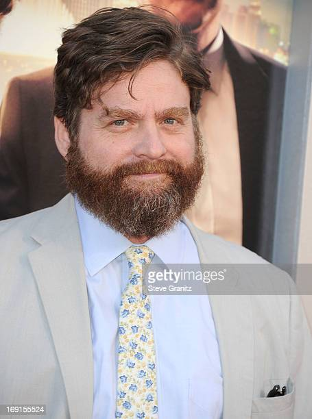 Zach Galifianakis arrives at the 'The Hangover III' Los Angeles Premiere at Mann's Village Theatre on May 20 2013 in Westwood California