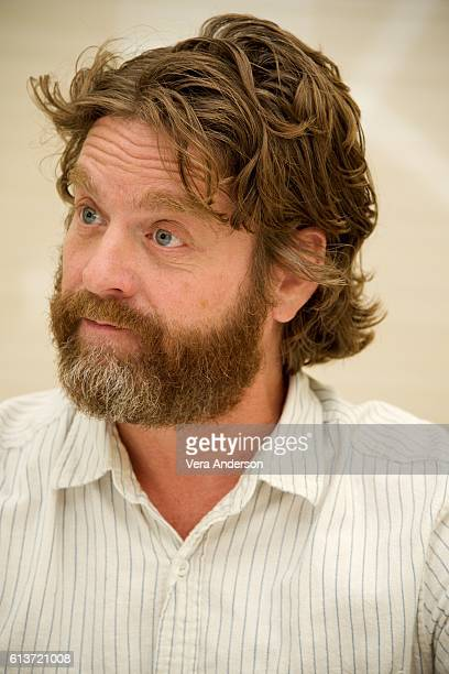 """Zach Galifianakis at the """"Keeping Up with the Joneses"""" Press Conference at the Fairmont Miramar Hotel on October 8, 2016 in Santa Monica, California."""