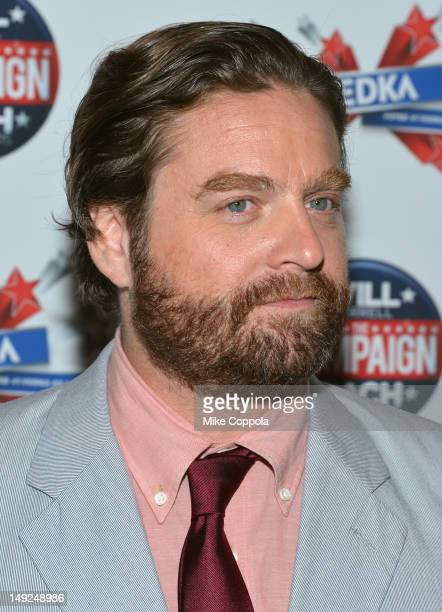 Zach Galifianakis attends The Campaign New York premiere at Landmark's Sunshine Cinema on July 25 2012 in New York City