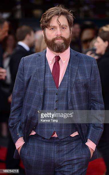 Zach Galifianakis attends The Hangover III UK film premiere at The Empire Cinema on May 22 2013 in London England