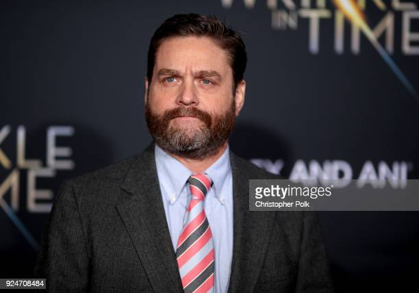 Zach Galifianakis attends the premiere of Disney's 'A Wrinkle In Time' at the El Capitan Theatre on February 26 2018 in Los Angeles California