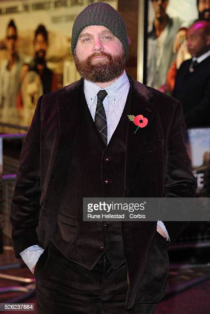 Zach Galifianakis attends the premiere of Due Date at Empire Leicester Square