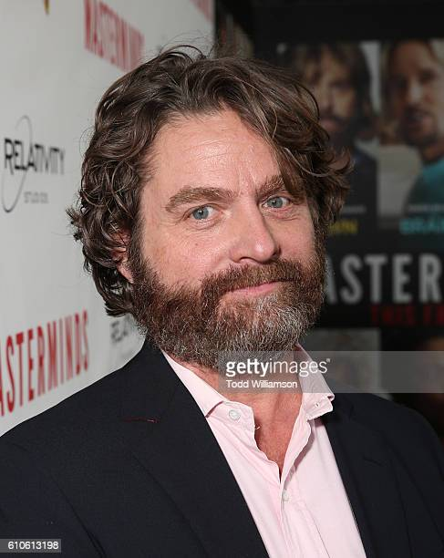 Zach Galifianakis attends the Premiere Of Relativity Media's 'Masterminds' at TCL Chinese Theatre on September 26 2016 in Hollywood California