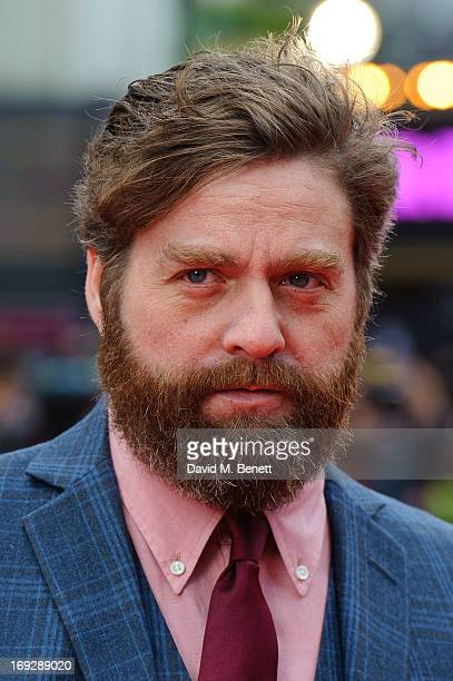 Zach Galifianakis attends the UK Premiere of 'The Hangover III' at The Empire Cinema on May 22 2013 in London England
