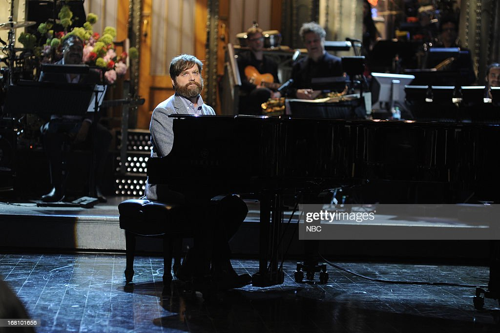 LIVE -- 'Zach Galifianakis' Episode 1639 -- Pictured: Host Zach Galifianakis on May 4, 2013 --