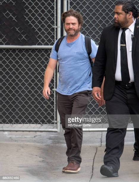 Zach Galifianakis is seen at 'Jimmy Kimmel Live' on May 08 2017 in Los Angeles California