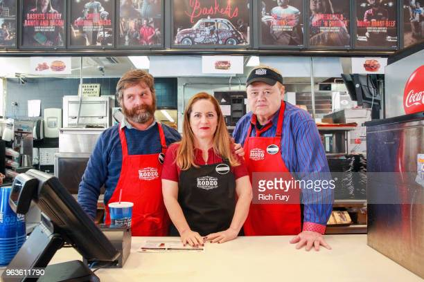 Zach Galifianakis Martha Kelly and Louie Anderson participate in the FYC event for FX's 'Baskets' at Arby's on May 29 2018 in Los Angeles California