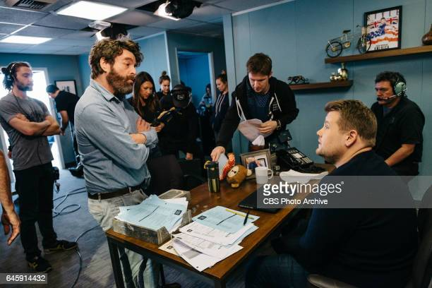 Zach Galifianakis performs with James Corden during 'The Late Late Show with James Corden' Wednesday February 22 2017 On The CBS Television Network