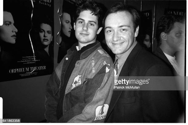 Zach Galligan and Kevin Spacey at 40 Worth for Sandra Bernhard March 31 1988