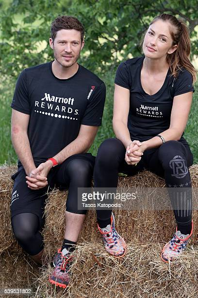 Zach Gilford and Minka Kelly attend as Marriott Rewards reunites Taylor Kitsch Minka Kelly Zach Gilford and Aimee Teegarden of Friday Night Lights...