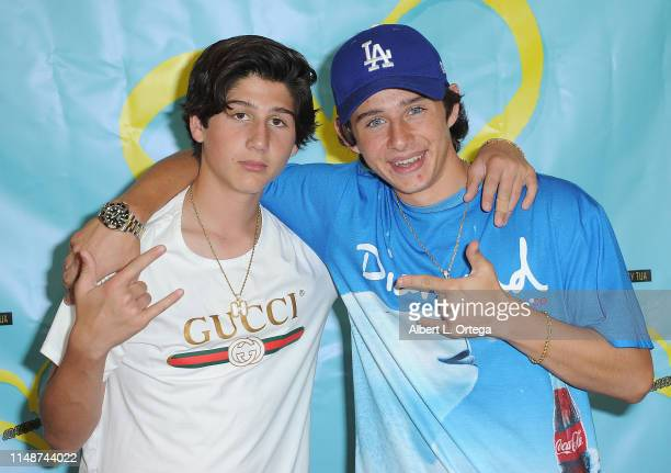 Zach Hennessey and JJ Hennessey attend the Release Party For Dani Cohn And Mikey Tua's Song Somebody Like You held at The Industry Loft on June 8...