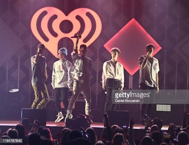 Zach Herron Corbyn Besson Jonah Marais and Jack Avery of Why Don't We perform during 1035 KISS FM's Jingle Ball 2019 Show on December 18 2019 in...