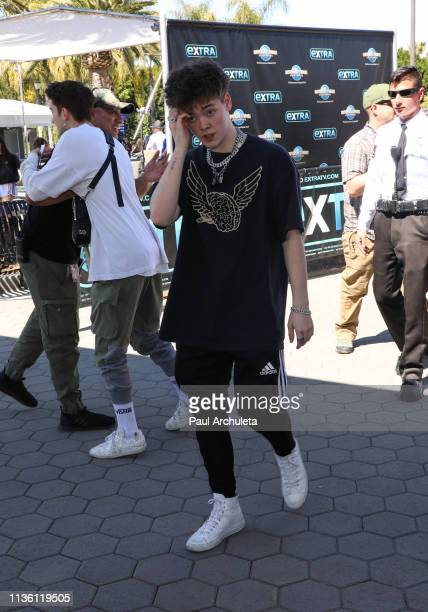 Zach Herron of the Boy Band 'Why Don't We' visits Extra at Universal Studios Hollywood on March 15 2019 in Universal City California