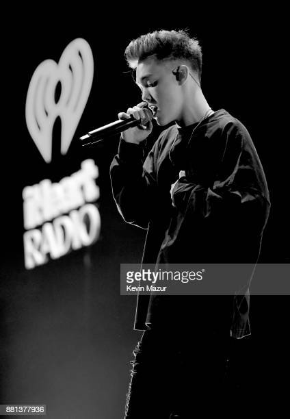 Zach Herron of Why Don't We performs onstage at 1061 KISS FM's Jingle Ball 2017 Presented by Capital One at American Airlines Center on November 28...