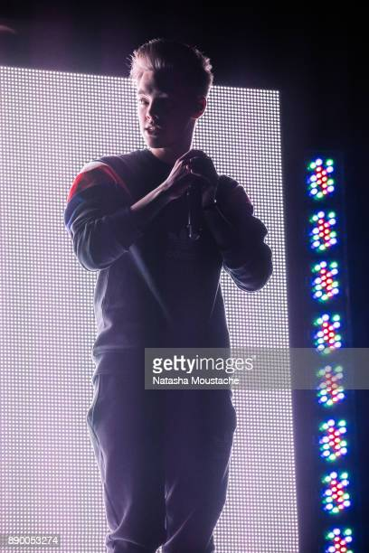 Zach Herron of Why Don't We performs onstage during the KISS 108's Jingle Ball 2017 presented by Capital One at TD Garden on December 10 2017 in...