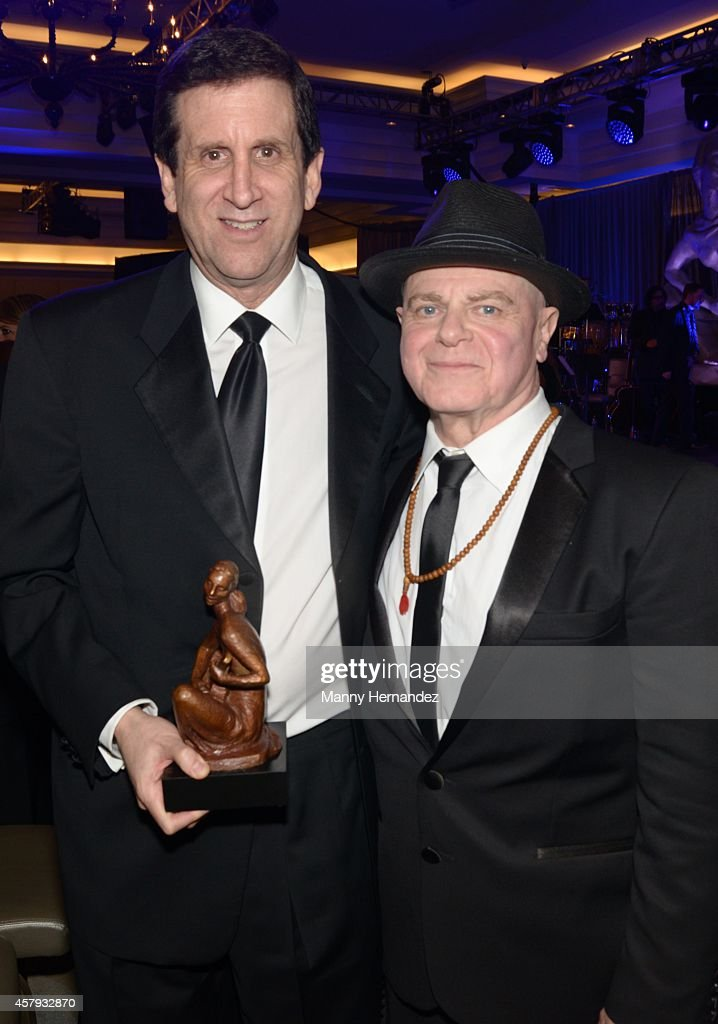 Zach Horowitz and Gustavo Santaolalla attends Latin Songwriters Hall Of Fame La Musa Awards at Ritz Carlton South Beach on October 18, 2014 in Miami Beach, Florida.