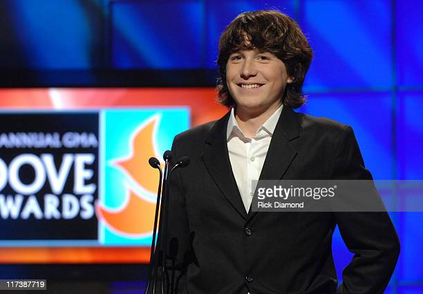 Zach Hunter during 38th Annual GMA DOVE Awards - Show at Grand Old Opry in Nashville, Tennessee, United States.