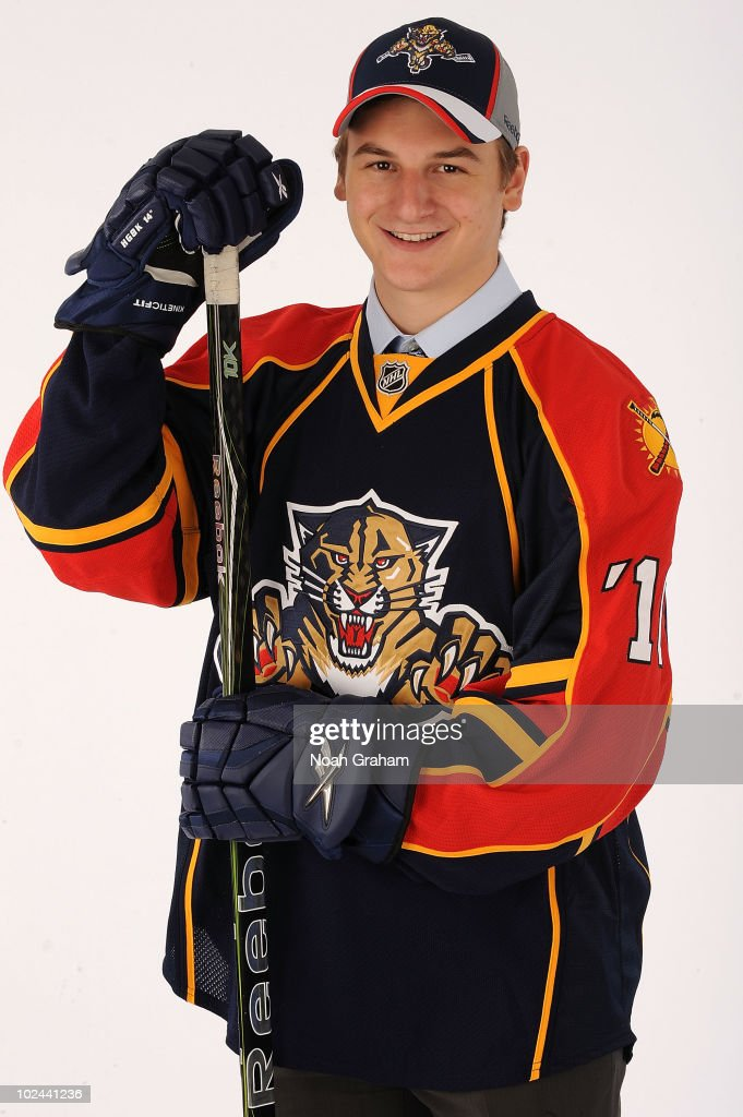 Zach Hyman, drafted in the fifth round by the Florida Panthers, poses for a portrait during the 2010 NHL Entry Draft at Staples Center on June 26, 2010 in Los Angeles, California.