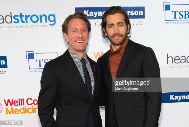 Zach Iscol and Jake Gyllenhaal attend the 7th Annual Headstrong Gala at Pier Sixty at Chelsea Piers on October 17 2019 in New York City