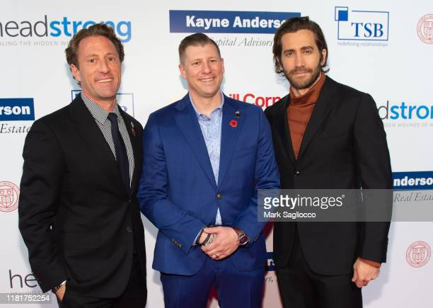 Zach Iscol Spencer Milo and Jake Gyllenhaal attend the 7th Annual Headstrong Gala at Pier Sixty at Chelsea Piers on October 17 2019 in New York City