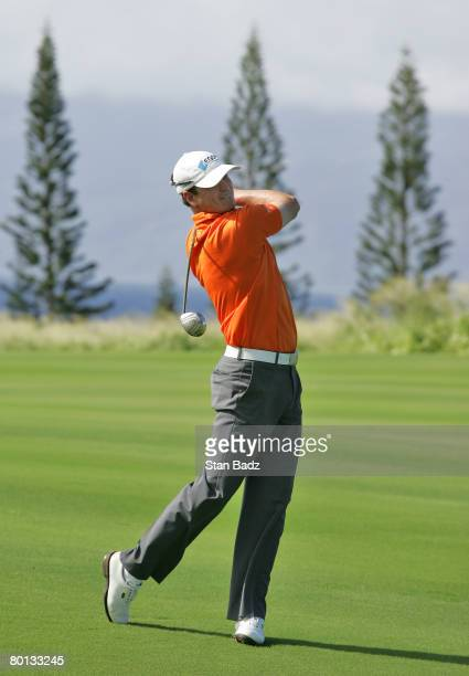 Zach Johnson hits from the 9th fairway during the third round of the MercedesBenz Championship at the Plantation Course at Kapalua on January 5 2008...