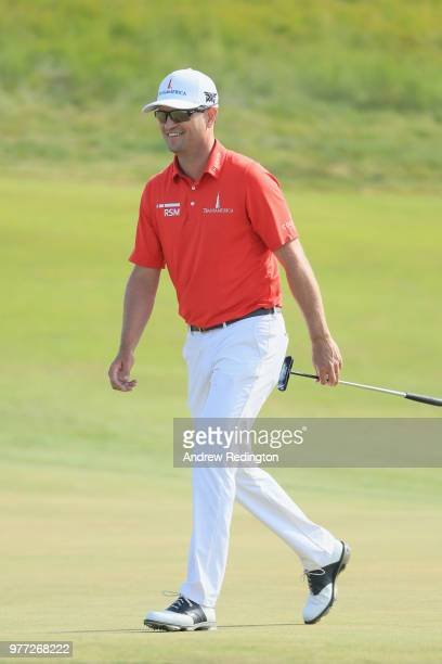 Zach Johnson of the United States walks off the 18th green during the final round of the 2018 US Open at Shinnecock Hills Golf Club on June 17 2018...