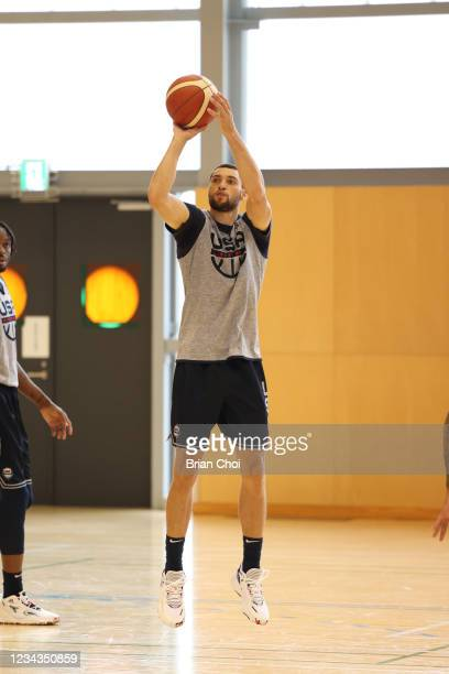 Zach LaVine of the USA Men's National Team shoots the ball during USAB Mens National Team practice on July 29, 2021 in Tokyo, Japan. NOTE TO USER:...