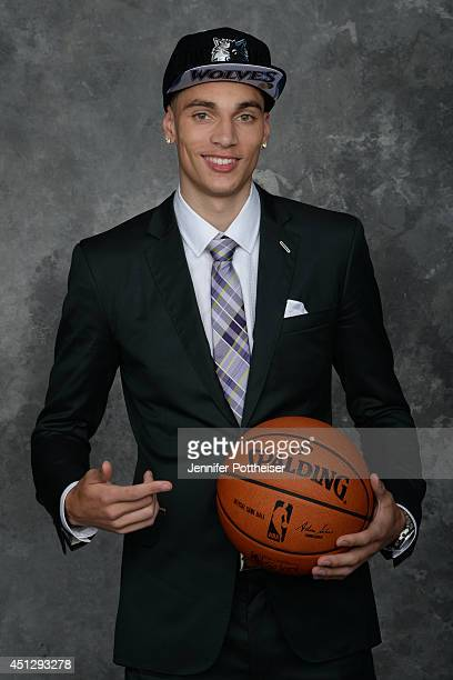 Zach LaVine the 13th pick overall by the Minnesota Timberwolves poses for a portrait during the 2014 NBA Draft at the Barclays Center on June 26 2014...