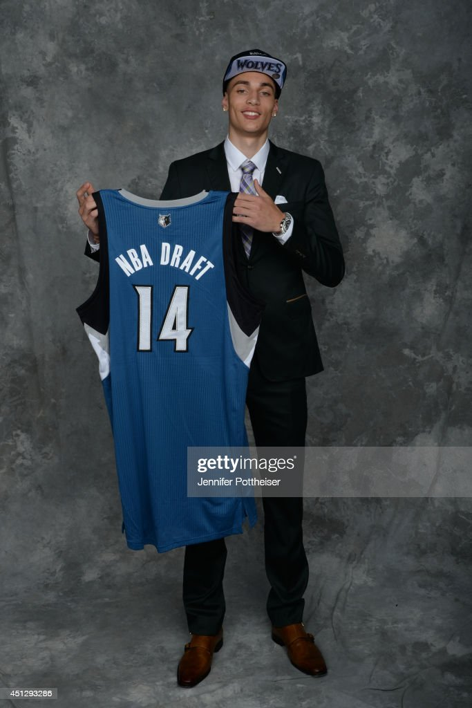 Zach LaVine, the 13th pick overall by the Minnesota Timberwolves, poses for a portrait during the 2014 NBA Draft at the Barclays Center on June 26, 2014 in the Brooklyn borough of New York City.