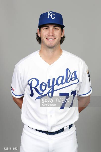 Zach Lovvorn of the Kansas City Royals poses during Photo Day on Thursday February 21 2019 at Surprise Stadium in Surprise Arizona