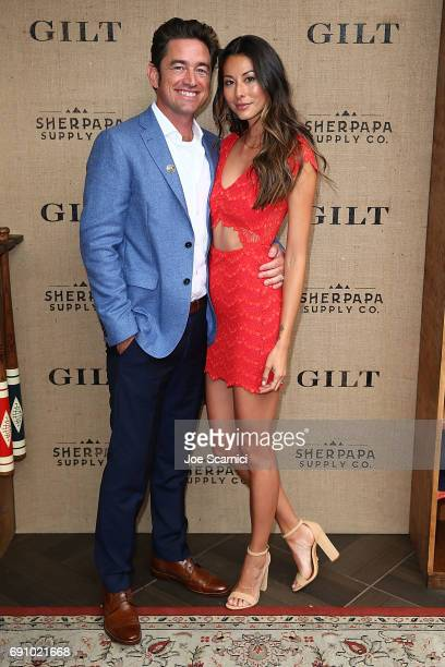 Zach McDuffie and Natazha McDuffie attend the Gilt Sherpapa Supply Co Launch Event at Catch LA on May 31 2017 in West Hollywood California